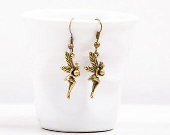Fairy Earrings, Fairy Jewelry , Earrings, Antiqued  Bronze Earrings,  Steampunk,