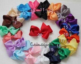 PICK 12 teen hair bow - Non slip teen bow - girl hair bow -  big girl hair bows - bows - big bow - 5 inch bow - hair bow big - girl bow big