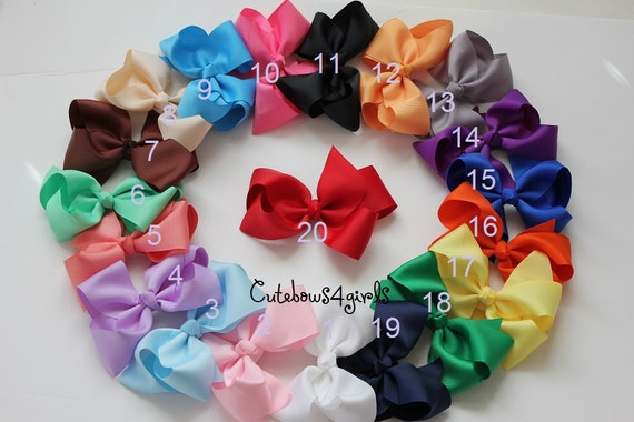 10% off - PICK 3 Extra large hair bow - Girls hair bows - Bow - big hair bow - Birthday gift set - hair accessories - accessory girl - hair
