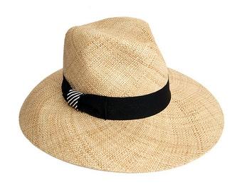 Summer straw hat , Fedora straw hat , Fedora straw hat for women, straw hat for men, Summer hats , Sun Hat , Beach hat , Women hats