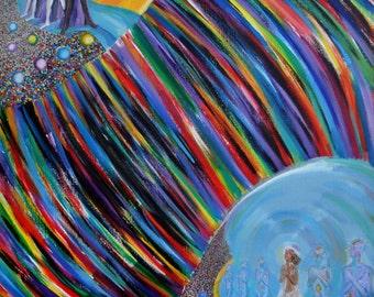 ORIGINAL ART RaMa Acrylic painting