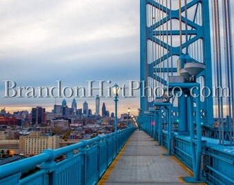 Ben Franklin Bridge Philadelphia PA Urban Photography Pennsylvania Delaware River Philly