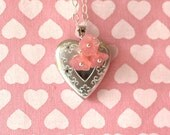 Heart Locket Necklace Valentine's Day Gift for Kids Little Girls Jewelry Sterling Silver Heart Locket Photo Locket Necklace