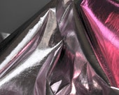 Reflective Hobo Faux Leather Fatber In Rosy Light Pink, Disco Dance Pageant Prom Fabric- A Half Yard