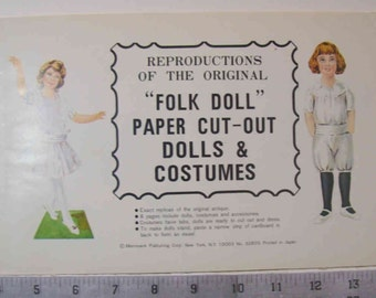 "Reproductions Of The Original ""Folk Doll"" paper cut outs by Merrimack"