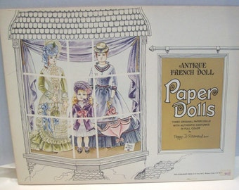 Vintage Antique French Doll paper dolls by Peggy Jo Rosamond 1975