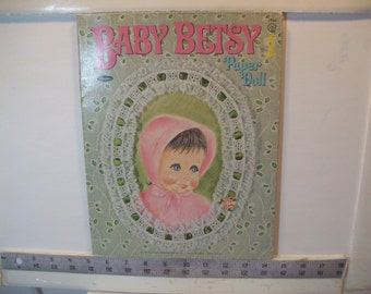 "Vintage 1967 ""Baby Betsy"" Paper Doll  Whitman #1964  1967"