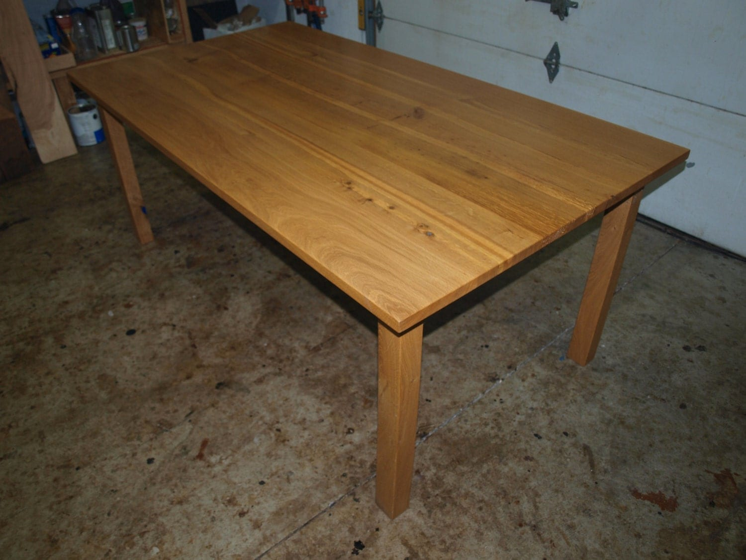 White Oak Table ~ White oak sawn dining table