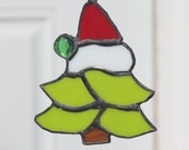 Stained Glass Christmas Tree Ornament or Suncatcher