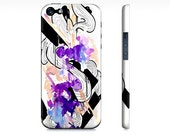 Purple iPhone 5 case - iPhone 5 cover - Case for the iPhone - Watercolor iPhone 5 - Girly iPhone case - Cute phone case