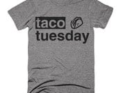 Taco Tuesday T shirt Funny Taco Mexican Food Tri Blend Tee