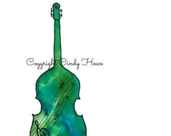 Digital art, Bass fiddle, acoustic bass fiddle, musical instruments, bluegrass, bass, stand up bass