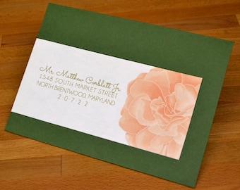PRINTABLE Blissfully Bohemian - Wraparound Wedding Invitation Address Wraps - Flowers and Leaves