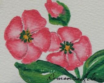 Spring Pink - ACEO - original