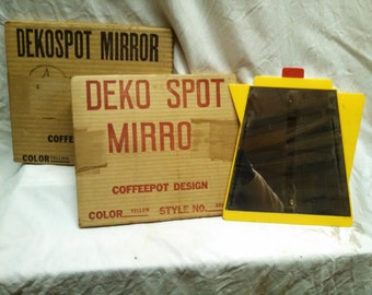 DekoSpot retro coffee pot wall mirror from the 1950s new in box