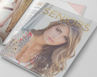 Senior Photography Magazine Template, Photography Magazine Template for Photoshop, Digital Magazine Template - SM102