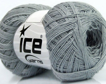 100% cotton yarn Summer grey superfine baby sport yarn Natural yarn 400m/50gr
