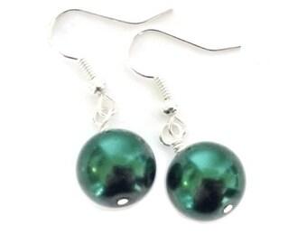 Pearl Dangle Earrings, Pearl Drop Earrings, Lever Back Earring, Ivory Pearl Earring, Faux Pearl Earring, Glass Pearl Earring, Bridal