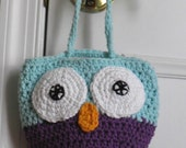 Owl Purse, Crocheted Purse, Purse for Girl, Owl, Bag, Purse, Little Girl, Small Bag, Small Purse, Unique Gift