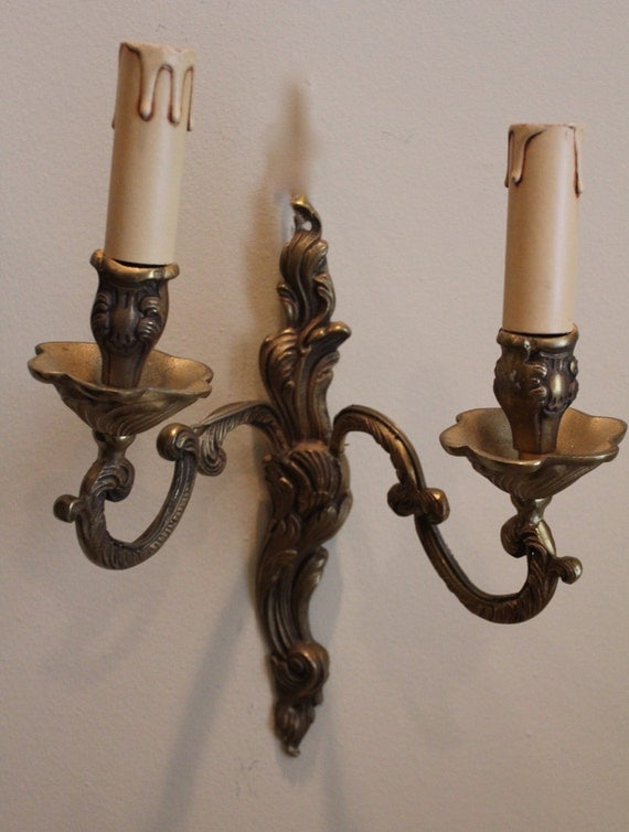 Wall Sconces With Branches : French two branch sconce wall light French candelabra