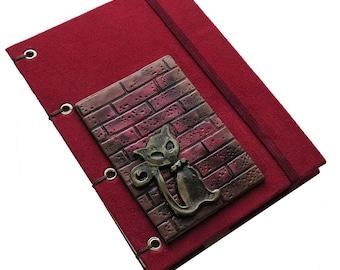 Cranberry Kitten Sketchbook/Journal/Photo Album/Memory Keeper