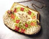 Vintage Purse HANDBEADED Bag Antique Romantic Christmas Gift