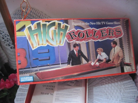 high roller board game by parker brothers 1988 vintage board. Black Bedroom Furniture Sets. Home Design Ideas