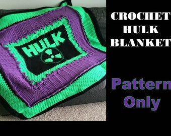 Crochet Hulk Blanket Pattern Only