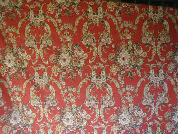 Vintage Ralph Lauren Duvet Cover Red Floral By