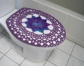 Crochet Toilet Seat Cover or Crochet Toilet Tank Lid Cover - grape fizz/medium purple (TSC17F or TTL17F)