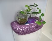 Crochet Toilet Tank Lid Cover or Crochet Toilet Seat Cover - grape fizz/medium purple (TTL17F or TSC17F)