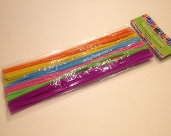 50 spring color pipe cleaners, 12 inch long (BR)