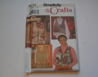 Simplicity Pattern 8034 Crafts Miss Vest