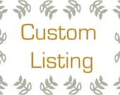 Custom Listing for Sammmiejo