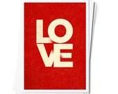 LOVE - Digital Download 5 x 7 Postcard - Instant Download