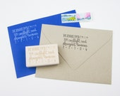 Custom Address Stamp - return address stamp - address stamp - calligraphy address stamp - personalized stamp - Caps and Arrows Design A0300