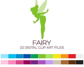 Fairy Clipart Fairy Clip Art Girl Clipart Nursery Clipart Silhouette Clipart Baby Clipart Princess Clipart Birthday Cute Clipart - A00018