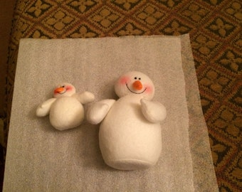 CHRISTMAS CRAFTS - Felt Snowmen for Crafting (set of 2)