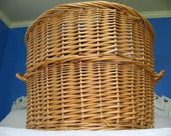 huge wicker basket with handles big jumbo large great big enormous round basket