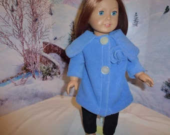 "18"" Doll Fleece Coat for American Girl, Madame Alexander, Journey, Gotz and other 18"" Dolls"