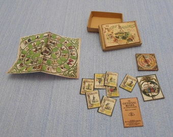 Gaël Miniature  Vintage game  Vintage game the mansion of happiness Dollhouse Miniature child game Accessory toy, Handmade