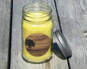 Citronella Mason Jar Candle 16 oz.