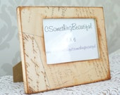 Vintage Style Picture Frame, 4X6, Vintage Scroll, Rustic, Wedding Centerpiece