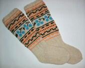 Custom Order For Avyi -Hand Knit Colorful Socks-Womens Soks-Long Socks-Size Medium-US W6,5-7,EU38