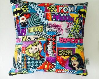Wonder Woman Girl Power Throw Pillow Slipcover - 16x16 Purple