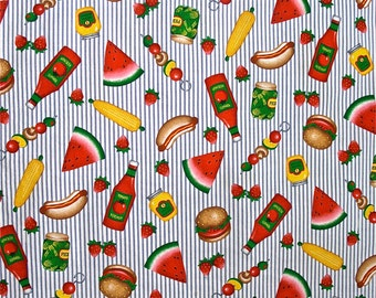 100 % Cotton Picnic Tablecloth 52 inches x 52 inches