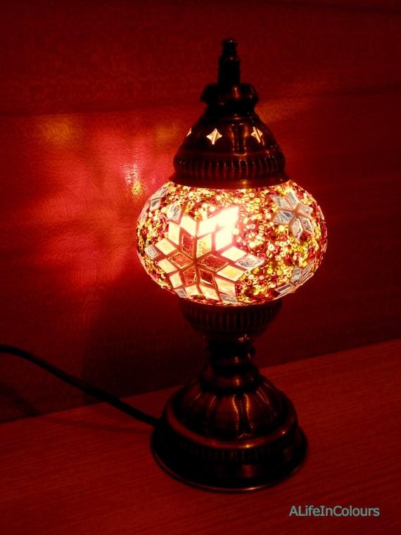 lampe de bureau mosa que style turc decoration verre color. Black Bedroom Furniture Sets. Home Design Ideas