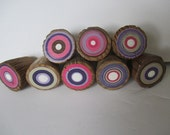 Girls Dresser Knob Pulls Made from Reclaimed  Barn Ladder Rungs - Great accent for Girls Bedroom - Set of 8 (8PKCKP)