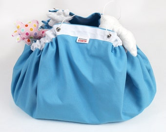 SALE - Reduced from USD25 - Play mat Toy bag - Storage bag - Lego playing mat - Playmat - Blue  - Ready to ship