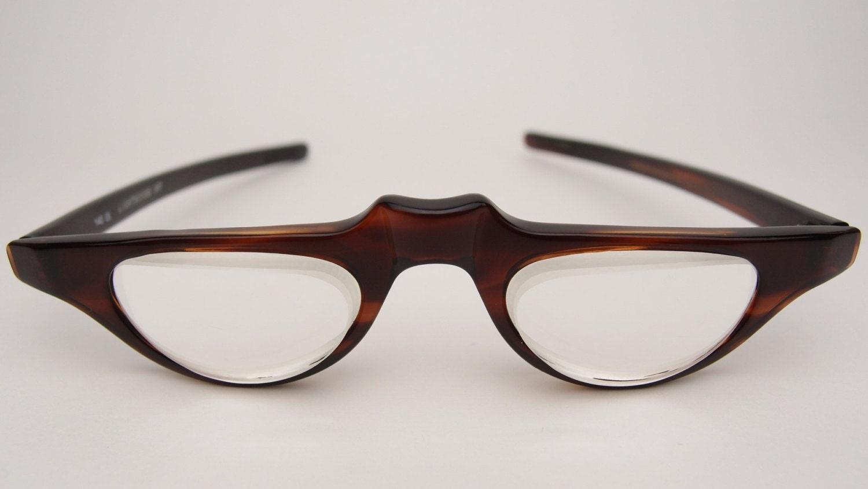 Glasses Frames Low Bridge : Vintage Lighthouse Int International Low Vision Prism Eyewear